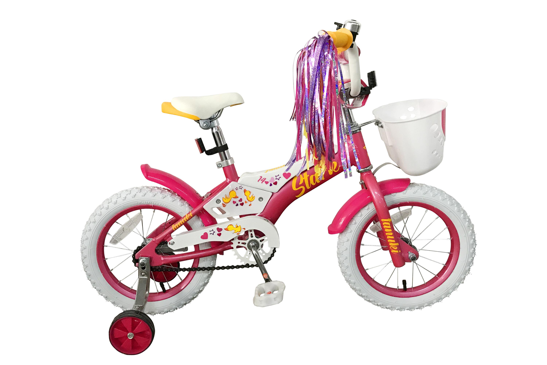 Велосипед Stark Tanuki 14 Girl 2019 розовый-белый-жёлтый one size