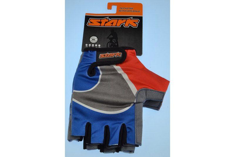 Велоперчатки Stark NC-908 триколор -ПЕРЧАТКИ<br>Недорогие перчатки с открытыми пальцами Stark NC-908, мягкие подушечки на внутренней стороне для комфорта, дополнительные швы придают большую прочность<br><br>бренд: STARK<br>год: Всесезонный<br>рама: None<br>вилка: None<br>блокировка амортизатора: None<br>диаметр колес: None<br>тормоза: None<br>уровень оборудования: None<br>количество скоростей: None<br>Цвет: -<br>Размер: None