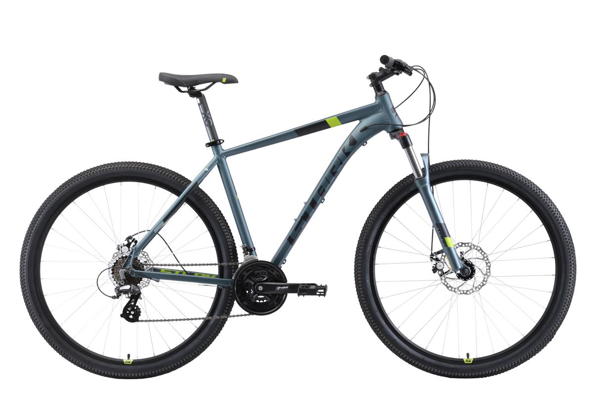 Велосипед Stark Router 29.3 D 2019 серый-чёрный-зелёный 20 д