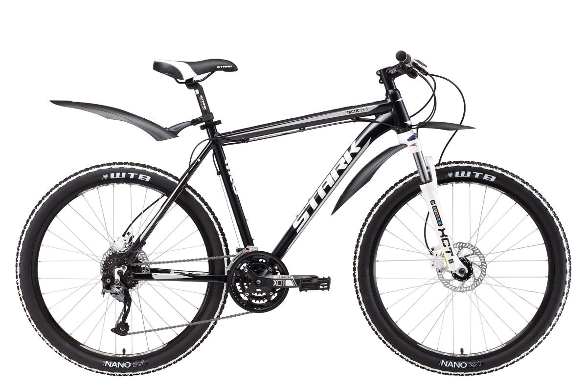 Велосипед Stark Tactic 26.5 HD (2017) черно-серебристый 20