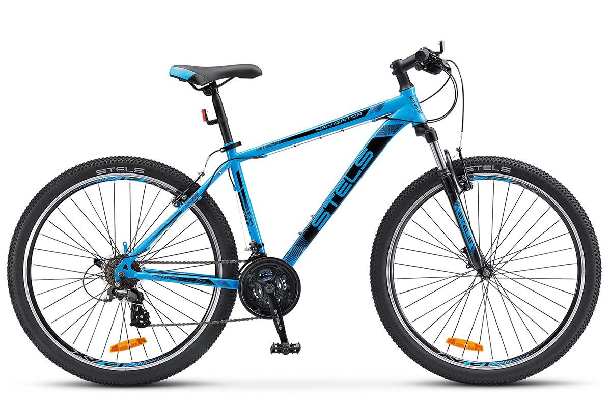 STELS Велосипед Stels Navigator 500 V 27.5 (2017) синий 17.5 велосипед stels navigator 310 2016