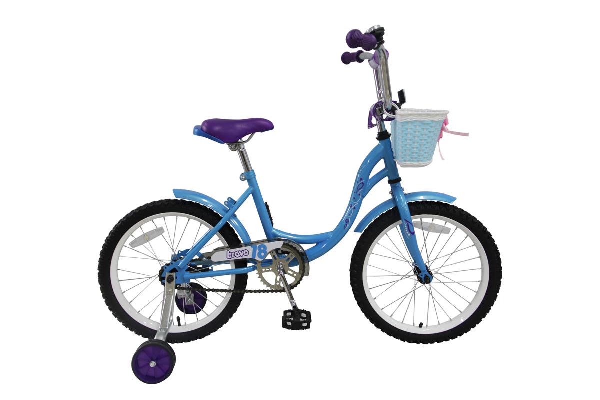BRAVO Велосипед Bravo 18 Girl (2017) сине-сиреневый one size