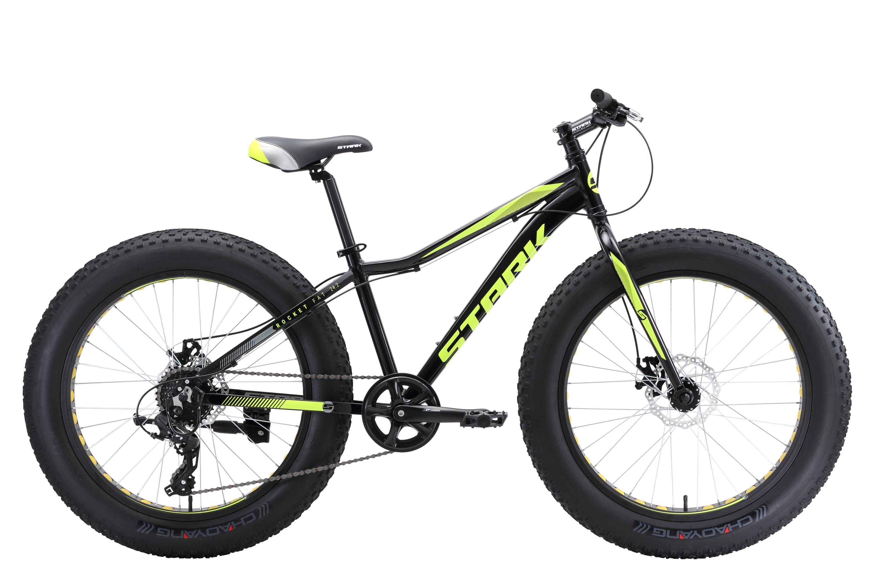 Велосипед Stark Rocket Fat 24.2 D 2018 чёрный-зелёный one size