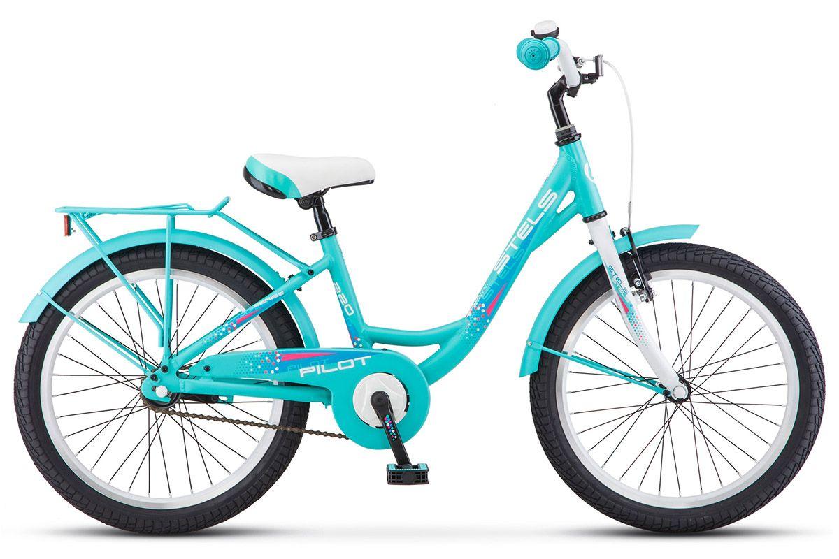 Велосипед Stels Pilot 220 Lady 2018 бирюзовый 12 д