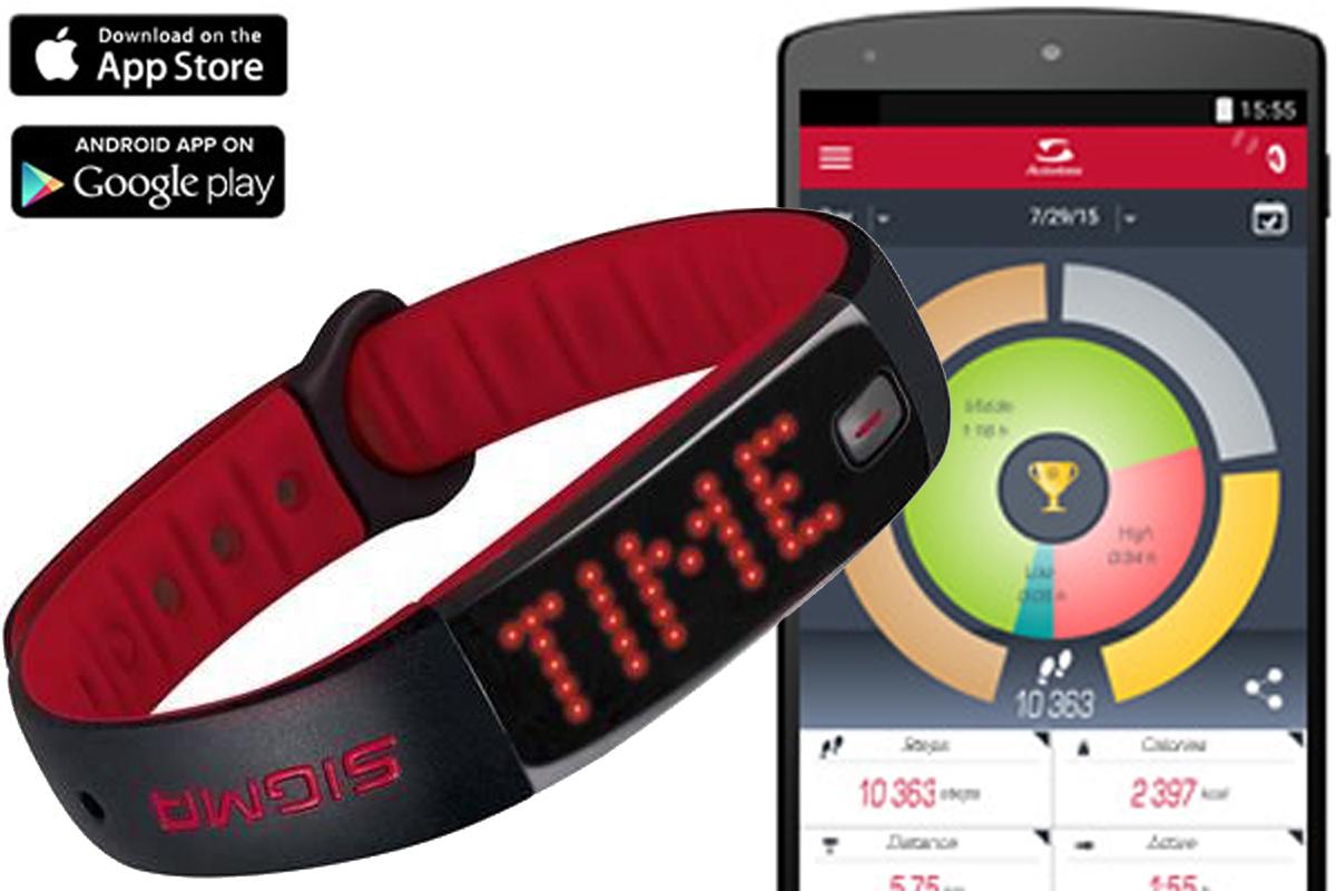 Шагомер электронный Sigma ACTIVO чёрныйПУЛЬСОМЕТРЫ<br>Фитнес-браслет Sigma Activo отображает количество пройденных шагов, сожженных калорий, показывает уровень дневной активности и сохраняет статистику на смартфон с помощью Bluetooth Smart. Синхронизация фитнес-браслета с приложением SIGMA ACTIV позволяет управлять браслетом через смартфон. В спящем режиме Sigma Activo реагирует на ваши движения и записывает их в течение ночи, что позволяет ему делать выводы о качестве вашего сна. Вы можете отслеживать статистику в любое время через смартфон.  Время работы батареи, около 8 дней. Время заряда батареи - 1 час. Управление одной кнопкой. Функции:  Шаги, расстояние и калории, в числах  Индикация времени активности в трёх категориях интенсивности  Индивидуальные ежедневные цели  Определённые промежуточные цели  Часы  Индикация продолжительности и качества сна  Настраиваемый дисплей  Ручная или автоматическая настройка длины шага  Читаемость дисплея для левшей и правшей  Соединение с DATA CENTER  Водостойкость по стандарту IPx7  Индикатор заряда аккумулятора <br><br>бренд: SIGMA<br>год: Всесезонный<br>рама: None<br>вилка: None<br>блокировка амортизатора: None<br>диаметр колес: None<br>тормоза: None<br>уровень оборудования: None<br>количество скоростей: None<br>Цвет: чёрный<br>Размер: None