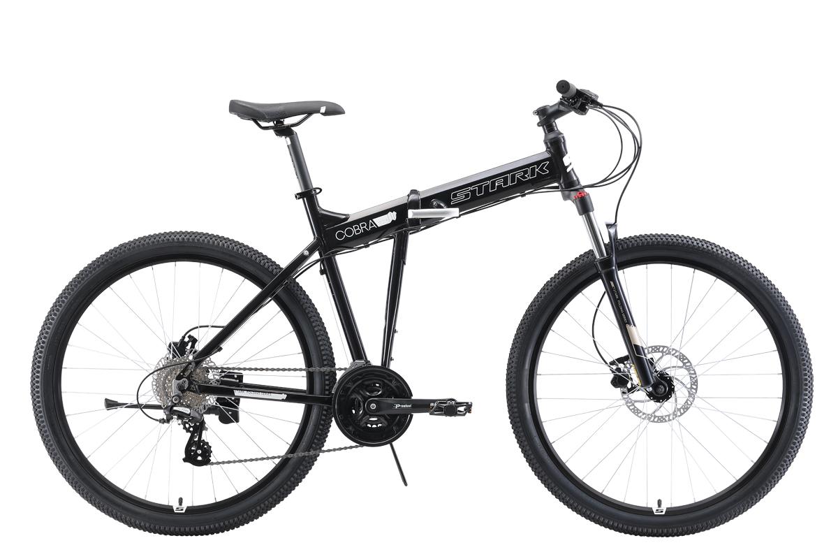 Велосипед Stark Cobra 27.3 HD 2019 чёрный-белый 20 д