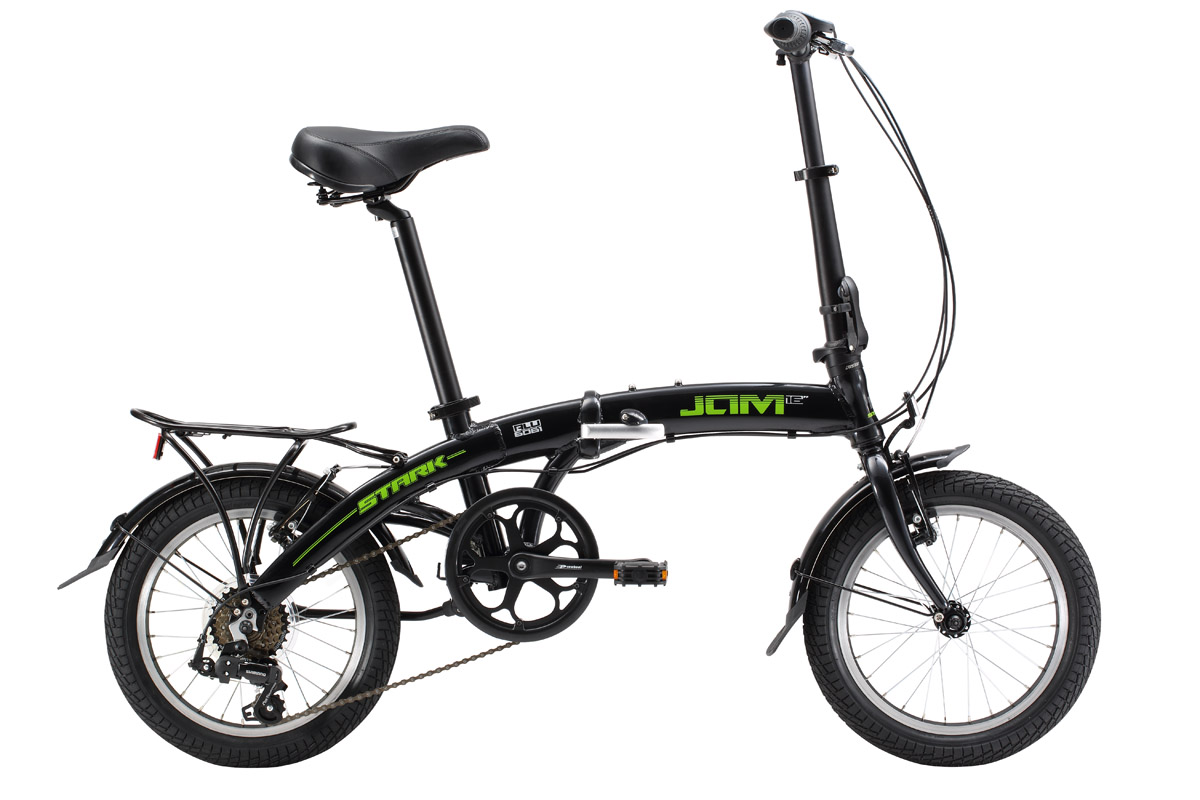 Велосипед Stark Jam 16.1 V (2017) черно-зеленый one size