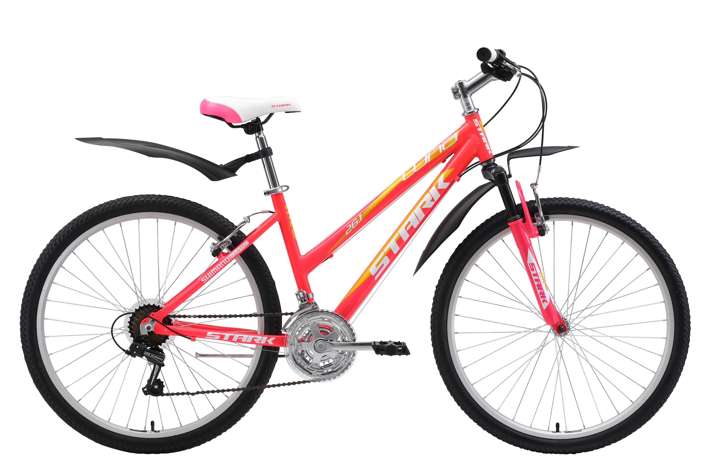 Велосипед Stark Luna 26.1 V 2018 розовый-жёлтый-белый 18 д