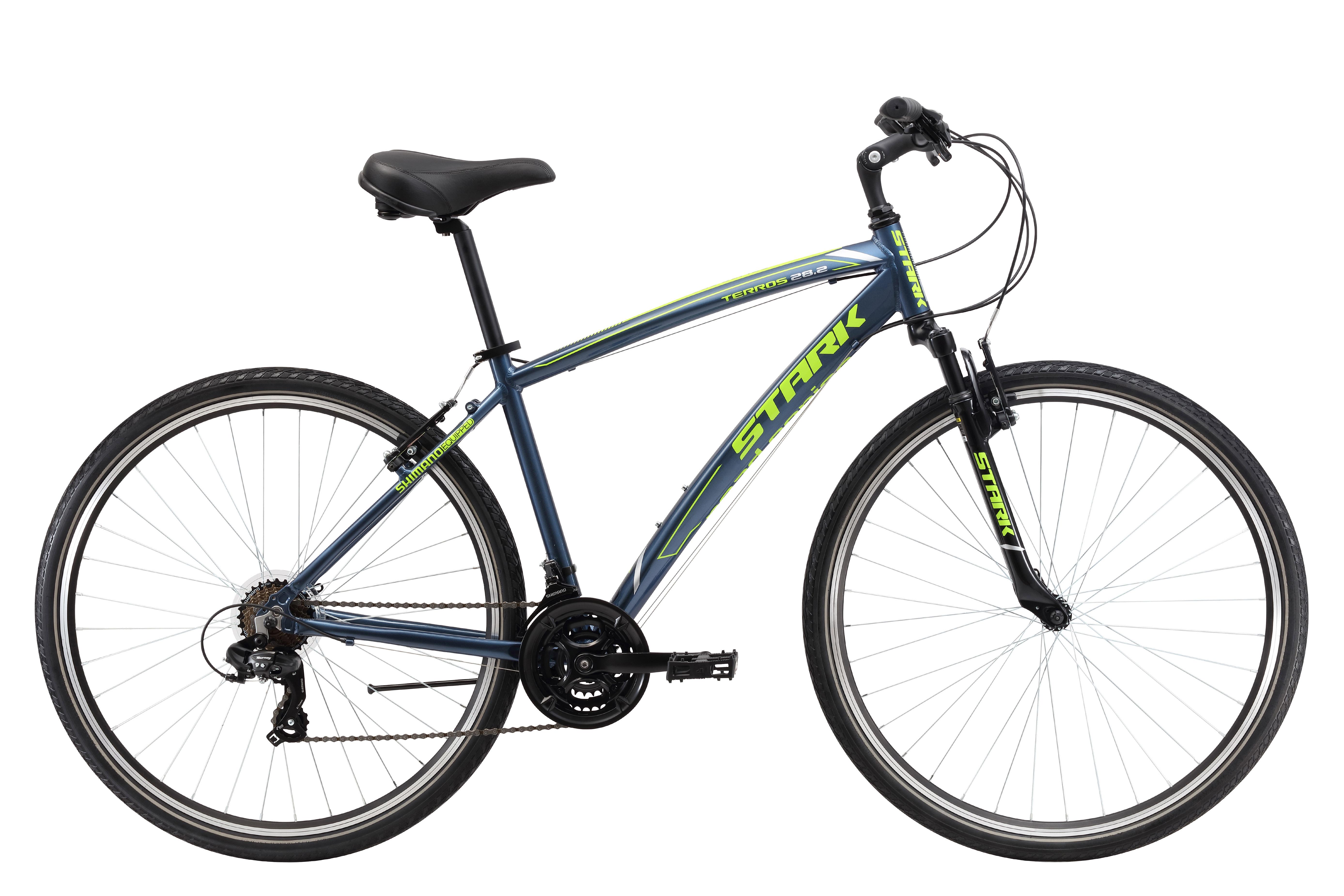 Велосипед Stark Terros 28.2 V 2017 серо-зеленый 20 д