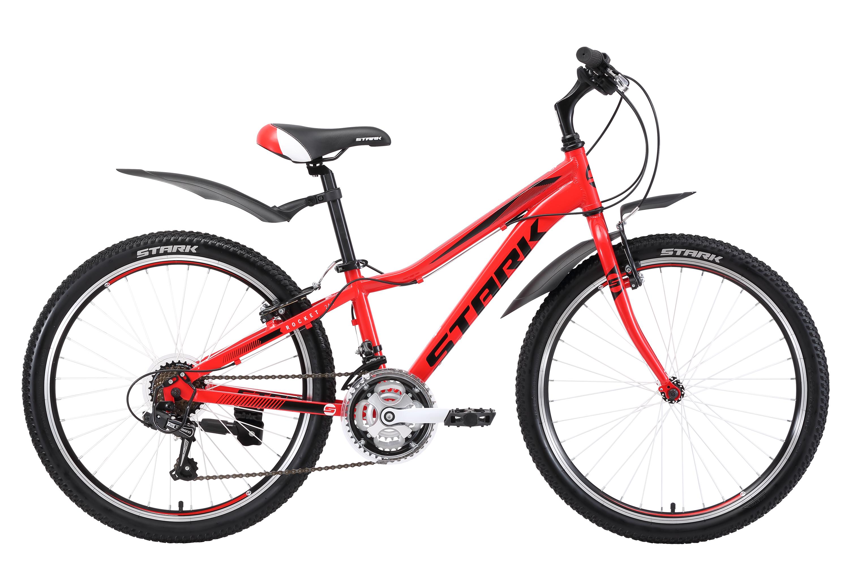 Велосипед Stark Rocket 24.1 RV 2018 красный-чёрный-белый one size