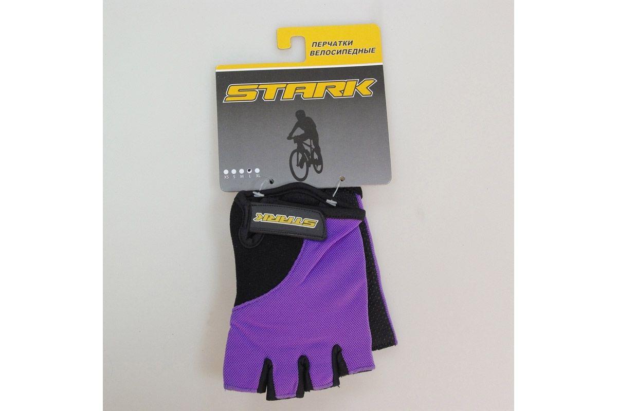 Велоперчатки Stark NC-668 черно-фиолетовые -ПЕРЧАТКИ<br>Женские перчатки с открытыми пальцами Stark NC-668, мягкие подушечки на внутренней стороне и прокладки с гелем и силиконом для большего комфорта, дополнительные швы придают большую прочность<br><br>бренд: STARK<br>год: Всесезонный<br>рама: None<br>вилка: None<br>блокировка амортизатора: None<br>диаметр колес: None<br>тормоза: None<br>уровень оборудования: None<br>количество скоростей: None<br>Цвет: -<br>Размер: None