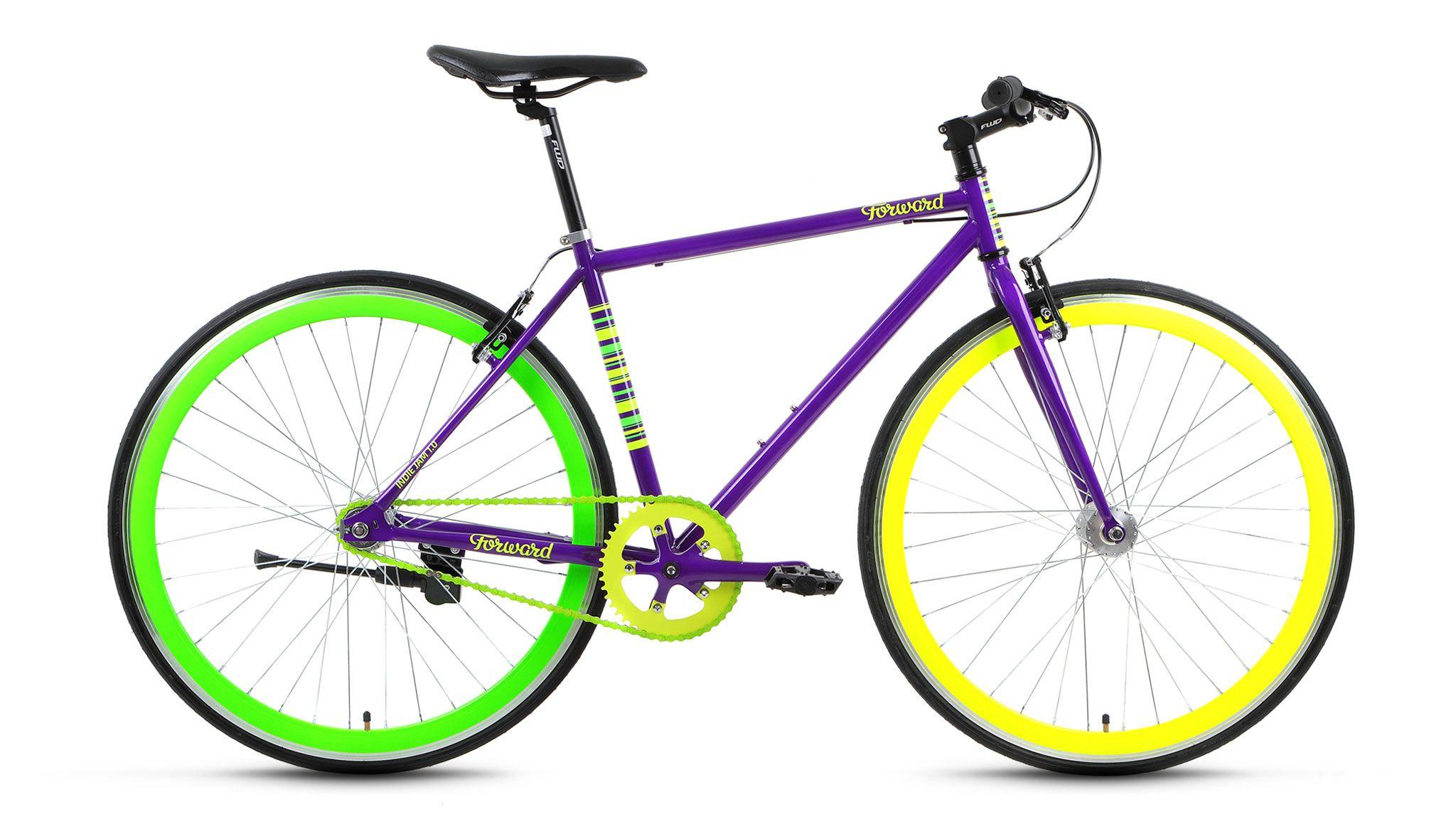 Велосипед Forward Indie Jam 1.0 (2017) фиолетовый 18КОМФОРТНАЯ ПОСАДКА<br><br><br>бренд: FORWARD<br>год: 2017<br>рама: Сталь (Hi-Ten)<br>вилка: Жесткая (сталь)<br>блокировка амортизатора: Нет<br>диаметр колес: 700C<br>тормоза: Ножной ( Coaster brake)<br>уровень оборудования: Начальный<br>количество скоростей: 1<br>Цвет: фиолетовый<br>Размер: 18