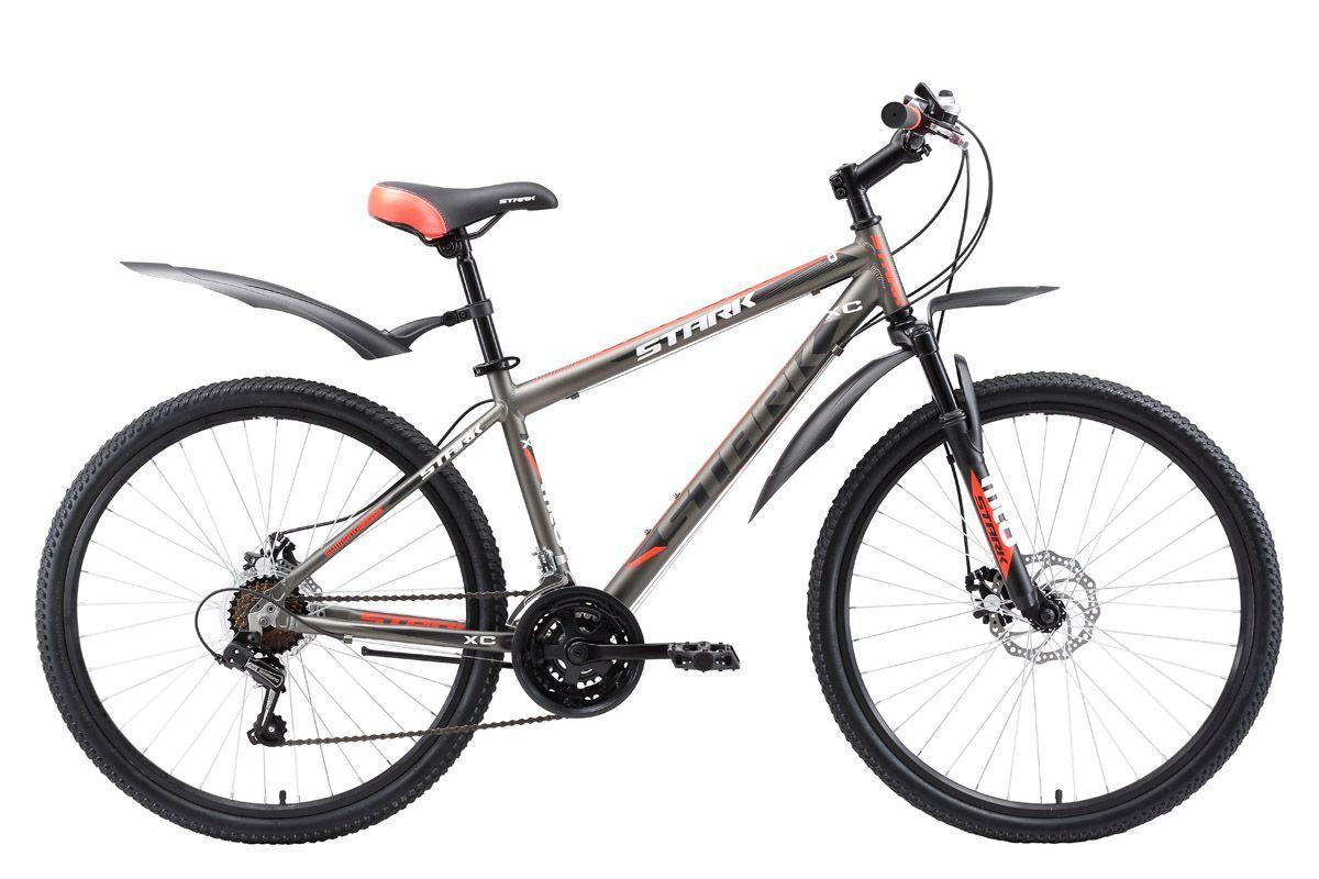 Велосипед Stark Outpost 26.1 D (2017) серо-красный 16КОЛЕСА 26 (СТАНДАРТ)<br>Доступный горный велосипед с надежными дисковыми тормозами. Рама велосипеда сделана из алюминия, благодаря чему велосипед хорошо маневрирует и быстро набирает скорость. Велосипед оборудован амортизационной вилкой, которая хорошо смягчает неровности дороги. Модель 2017 года была усовершенствована, производитель установил триггерные монетки SHIMANO и увеличил количество скоростей, теперь велосипед имеет 21 передачу, вместо 18. Помимо этого в 2017 году добавлено кольцо под вынос, благодаря чему руль может устанавливаться выше.<br><br>бренд: STARK<br>год: 2017<br>рама: Алюминий (Alloy)<br>вилка: Амортизационная (пружина)<br>блокировка амортизатора: Нет<br>диаметр колес: 26<br>тормоза: Дисковые механические<br>уровень оборудования: Начальный<br>количество скоростей: 21<br>Цвет: серо-красный<br>Размер: 16