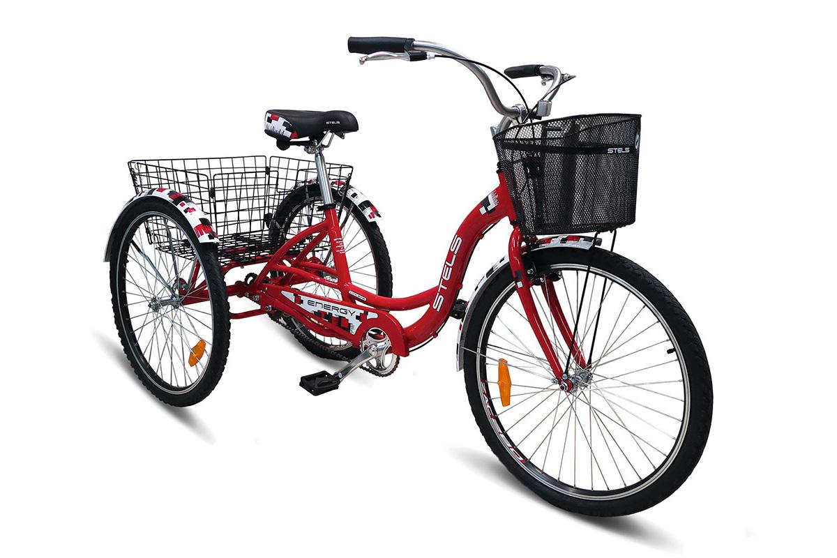 Велосипед Stels Energy I 26 (2017) красно-белыйГРУЗОВЫЕ<br><br><br>бренд: STELS<br>год: 2017<br>рама: Алюминий (Alloy)<br>вилка: Жесткая (сталь)<br>блокировка амортизатора: Нет<br>диаметр колес: 26<br>тормоза: Ободные (V-brake)<br>уровень оборудования: Начальный<br>количество скоростей: 1<br>Цвет: красно-белый<br>Размер: None