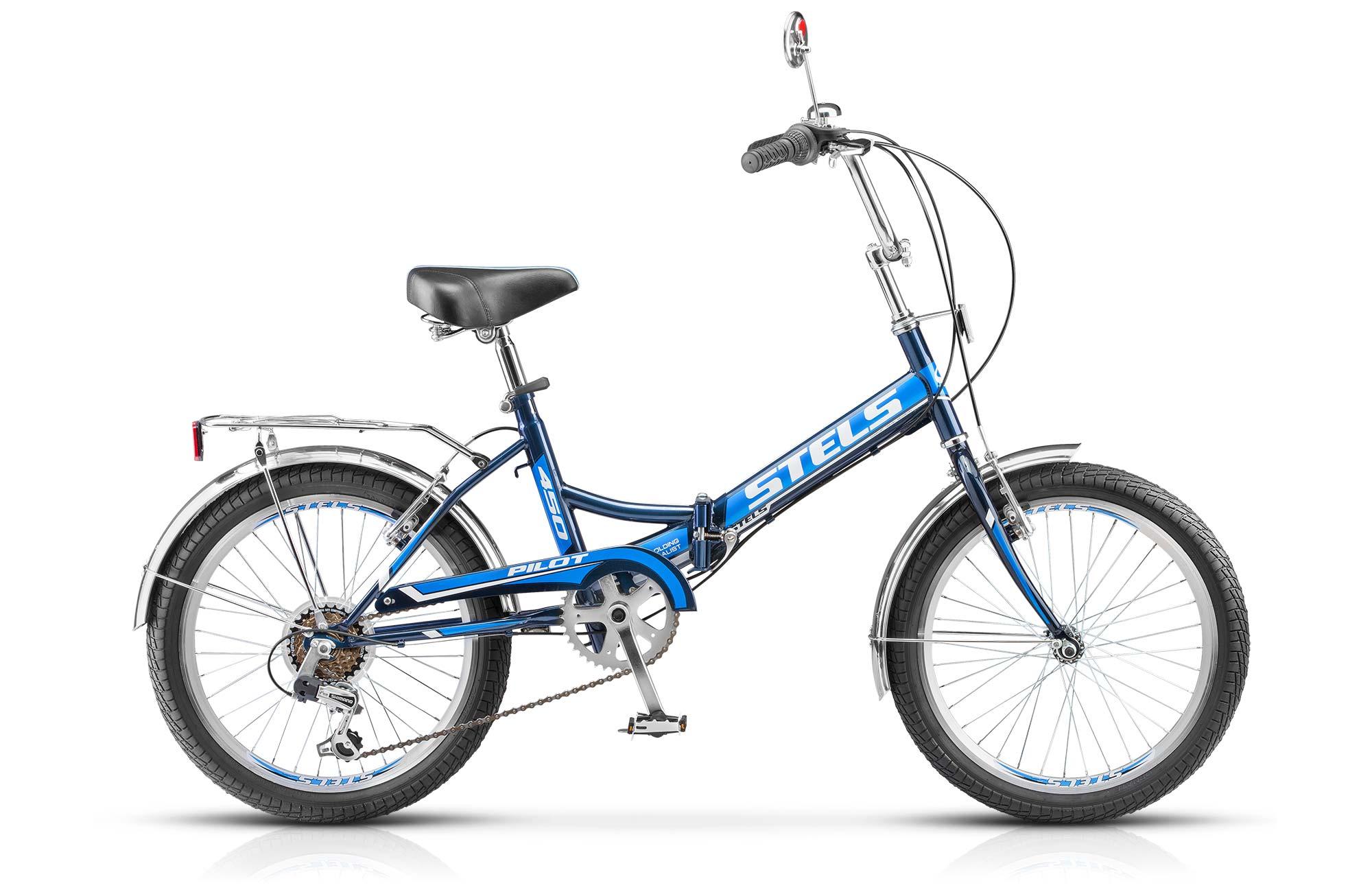 """Купить со скидкой Велосипед Stels Pilot 450 20 (2017) черно-зеленый 13.5"""""""
