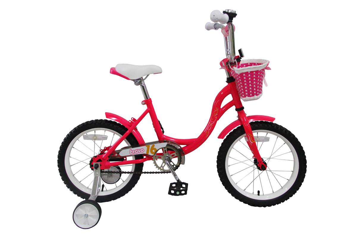 BRAVO Велосипед Bravo 16 Girl (2017) розово-желтый one size