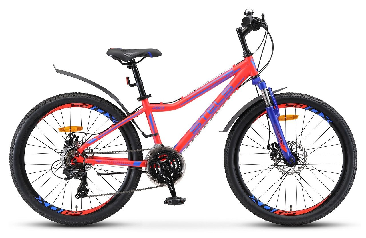 Велосипед Stels Navigator 410 MD 24 21-sp V010 2019 неоновый-красный 13 д
