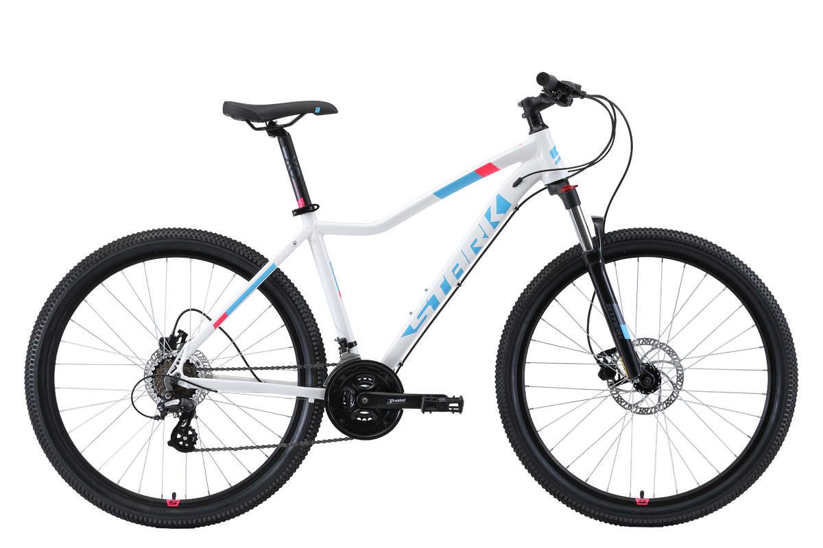 Велосипед Stark Viva 27.3 HD 2019 белый-голубой-розовый 18 д