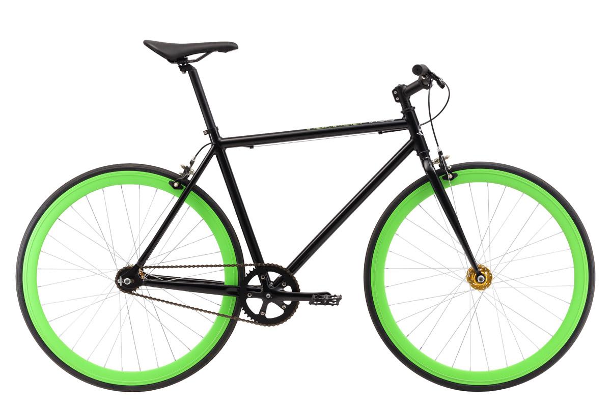 Велосипед Stark Terros 700 S (2017) черно-зеленый 18СПОРТИВНАЯ ПОСАДКА<br>Быстрый, легкий, манёвренный спортивный Stark Terros 700 будто создан для динамичных городских поездок. Он обладает хорошим накатом благодаря жёсткой конструкции, собранной на алюминиевой раме. Этот велосипед легко превращается из фикседа - велосипед с одной фиксированной передачей в синглспид - велосипед со свободным ходом, осуществляется это благодаря использованию задней втулки flip-flop. Для обеспечения безопасной езды в режиме синглспида, велосипед оборудован тормозами - передним и задним. Они будут полезны, если Вы только начинаете кататься на фикседе. Простота конструкции и малый вес велосипеда #40;всего 9, 9 кг#41; являются его бесспорным преимуществом.<br><br>бренд: STARK<br>год: 2018<br>рама: Алюминий (Alloy)<br>вилка: Жесткая (сталь)<br>блокировка амортизатора: Нет<br>диаметр колес: 700C<br>тормоза: Ободные (V-brake)<br>уровень оборудования: Начальный<br>количество скоростей: 1<br>Цвет: черно-зеленый<br>Размер: 18