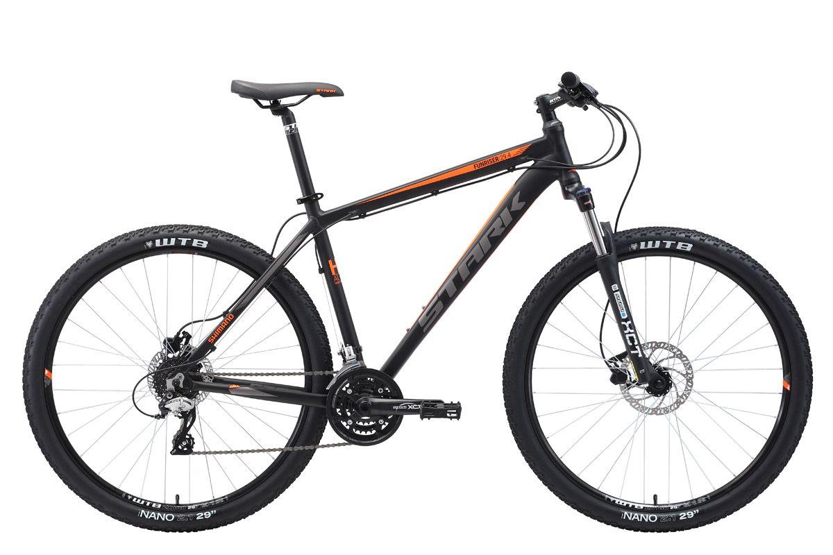 Велосипед Stark Funriser 29.4 HD 2018 чёрный-оранжевый-серый 20 д