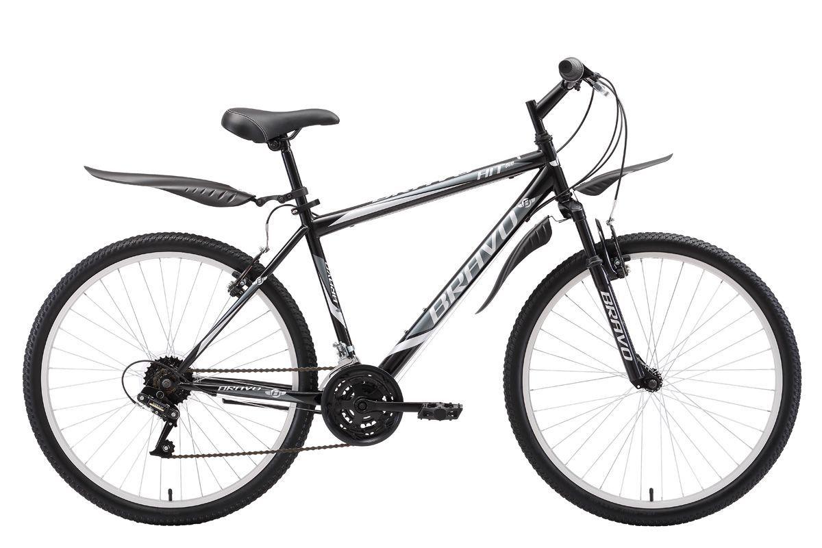 "Велосипед Bravo Hit 26 (2018) чёрный/тёмно-серый/серый 20"""