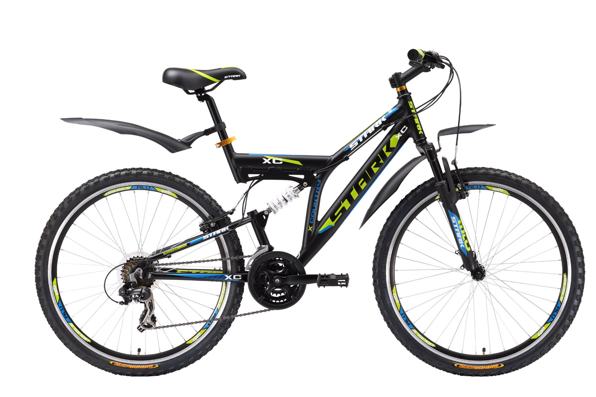 Велосипед Stark Jumper (2016) черно-красный 16КОЛЕСА 26 (СТАНДАРТ)<br>Недорогой двухподвес на алюминиевой раме Stark Jumper отлично подходит для велопрогулок на природе. Так как верхняя труба рамы Stark Jumper расположена ниже, велосипед удобно использовать велосипедистам ростом от 150см #40;на раме 16quot;#41;. Комплектация велосипеда 21-скоростной трансмиссией на оборудовании Shimano, двойными алюминиевыми ободами и амортизационной вилкой ZOOM соответствует прогулочному уровню катания, на который рассчитан двухподвес. Велосипед Stark Jumper - новинка 2016 года, расширившая выбор, для наших клиентов, в сегменте недорогих велосипедов двухподвесов.<br><br>бренд: STARK<br>год: 2016<br>рама: Алюминий (Alloy)<br>вилка: Амортизационная (пружина)<br>блокировка амортизатора: Нет<br>диаметр колес: 26<br>тормоза: Ободные (V-brake)<br>уровень оборудования: Начальный<br>количество скоростей: 21<br>Цвет: черно-красный<br>Размер: 16