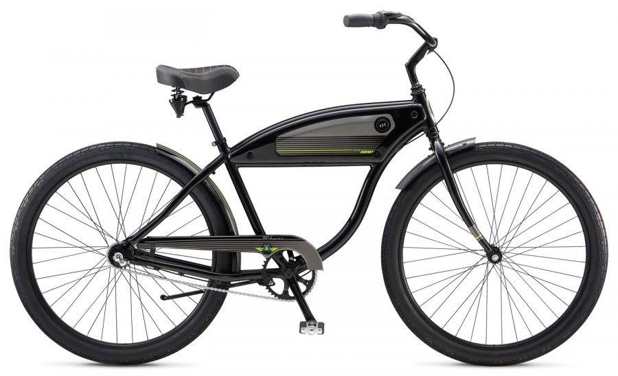 Велосипед Schwinn Hornet (2017) черный one sizeКРУИЗЕРЫ / РЕТРО<br><br><br>бренд: SCHWINN<br>год: 2017<br>рама: Алюминий (Alloy)<br>вилка: Жесткая (сталь)<br>блокировка амортизатора: Нет<br>диаметр колес: 27,5 (650B)<br>тормоза: Ножной ( Coaster brake)<br>уровень оборудования: Начальный<br>количество скоростей: 3<br>Цвет: черный<br>Размер: one size