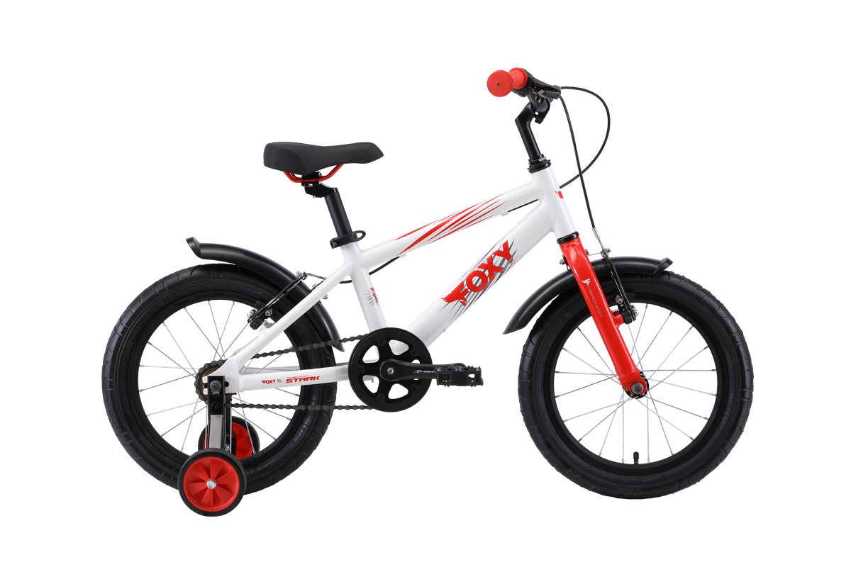 Велосипед Stark Foxy 16 2019 белый-красный-серый one size