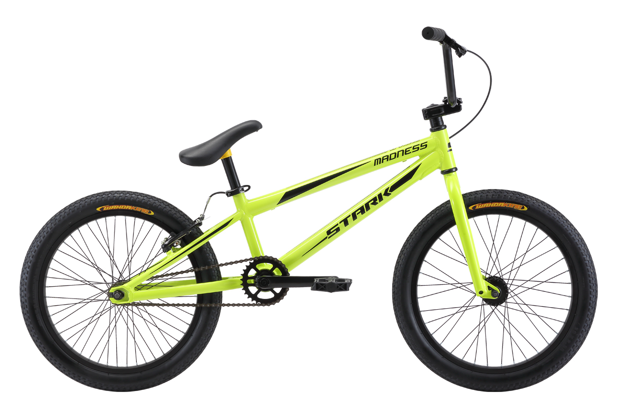 Велосипед Stark Madness BMX Race 2018 жёлтый-чёрный one size