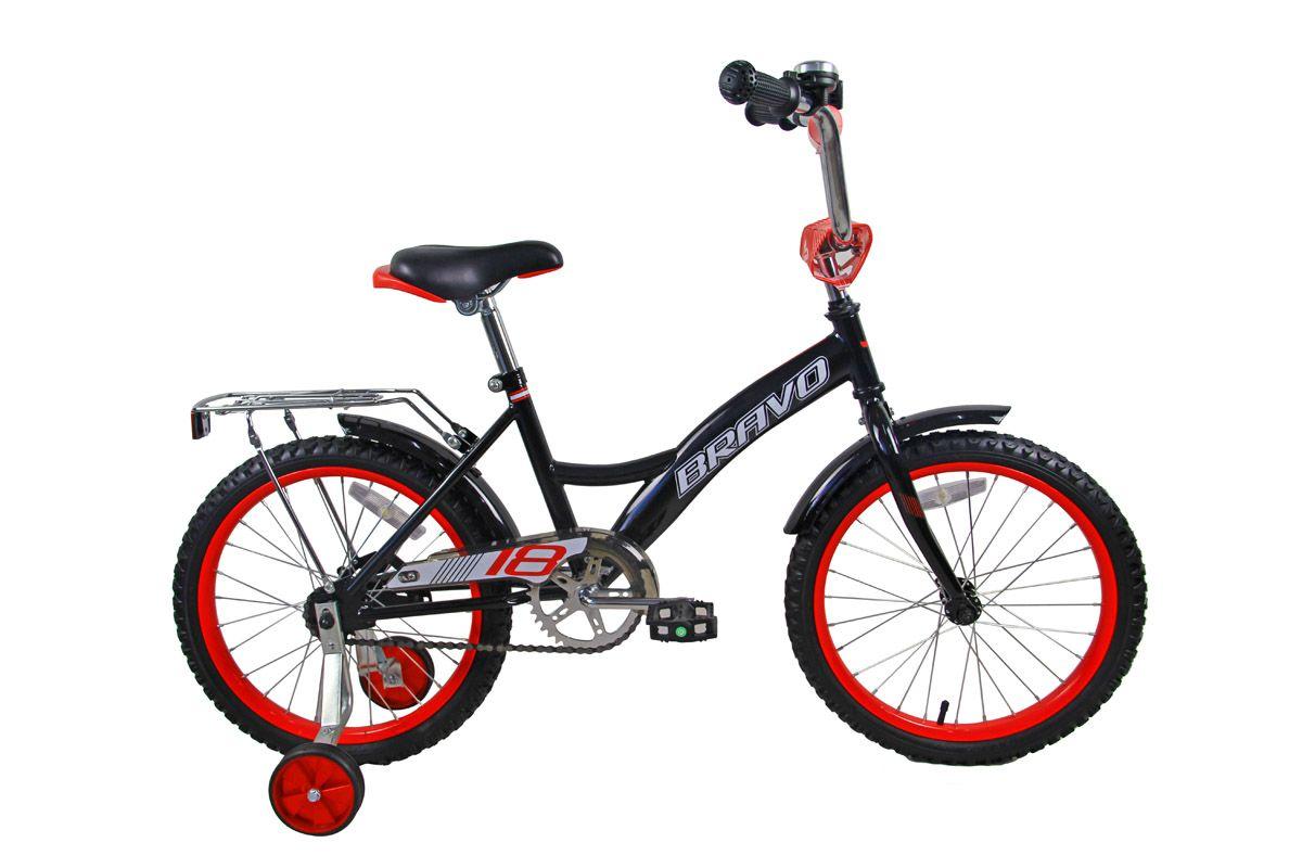 Велосипед Bravo 18 Boy (2018) чёрный/красный/белый one size
