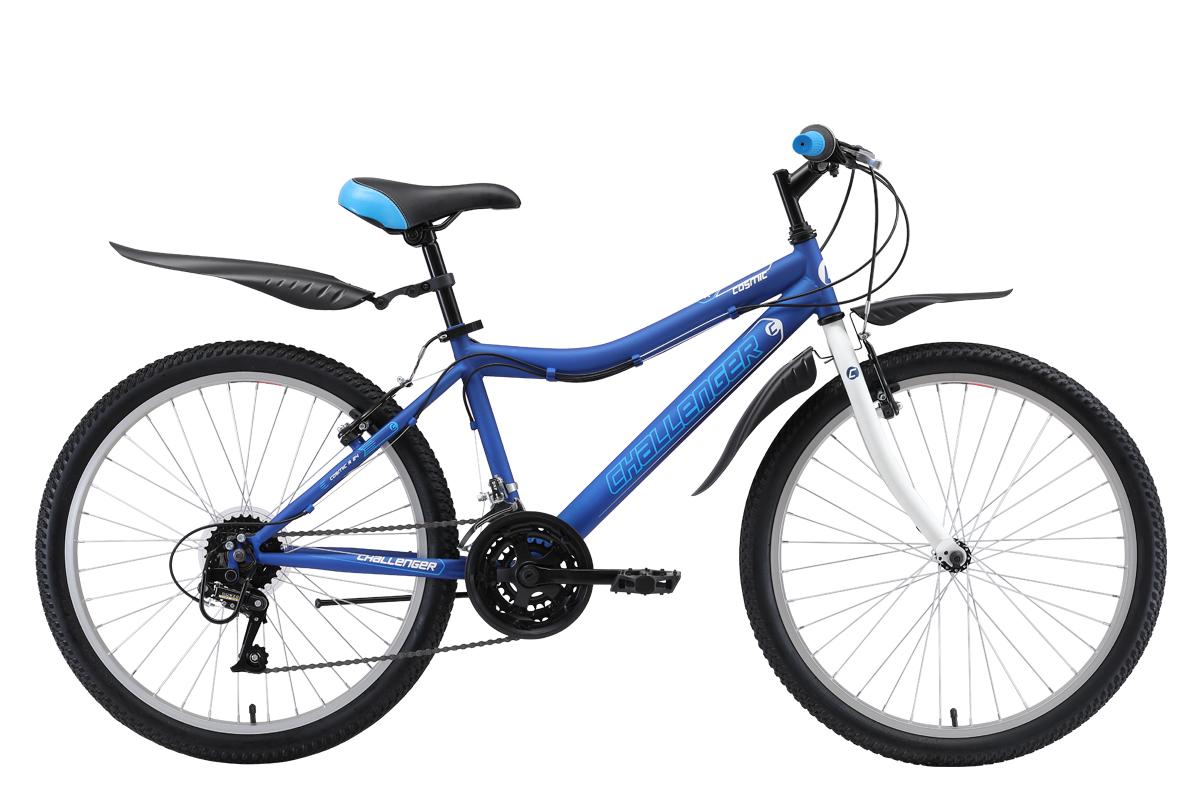 Велосипед Challenger Cosmic 24 R 2019 синий-зелёный-голубой 13 д