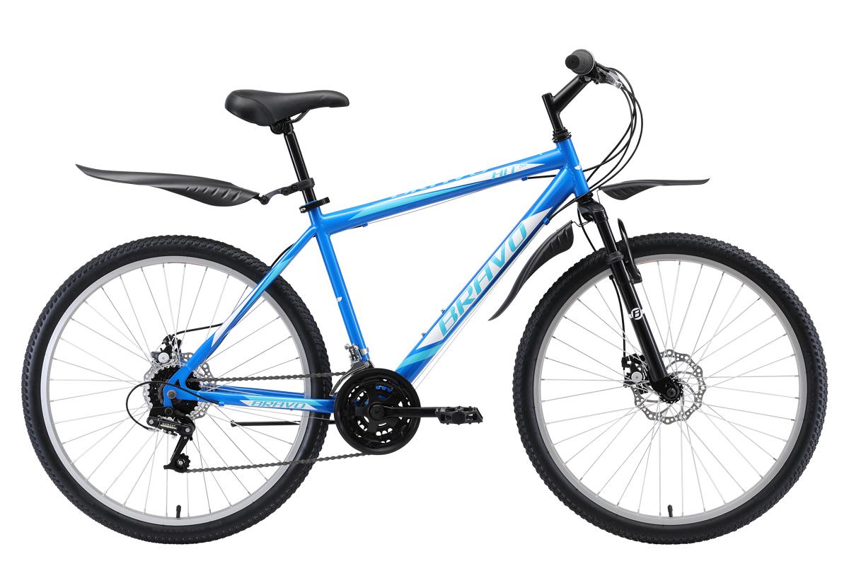 Велосипед Bravo Hit 26 D 2019 синий-белый-голубой 18 д