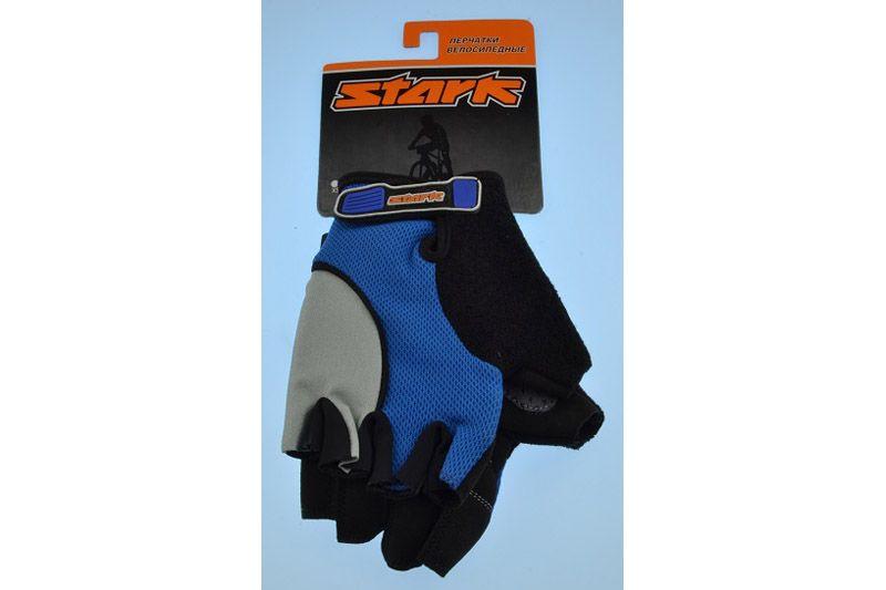 Велоперчатки Stark NC-618 серо-синие -ПЕРЧАТКИ<br>Перчатки с открытыми пальцами Stark NC-618, мягкие подушечки на внутренней стороне для большего комфорта, дополнительные швы придают большую прочность<br><br>бренд: STARK<br>год: Всесезонный<br>рама: None<br>вилка: None<br>блокировка амортизатора: None<br>диаметр колес: None<br>тормоза: None<br>уровень оборудования: None<br>количество скоростей: None<br>Цвет: -<br>Размер: None
