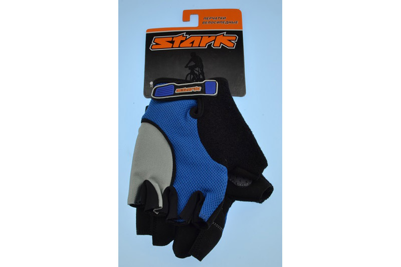 Велоперчатки Stark NC-618 серо-синие - STARK