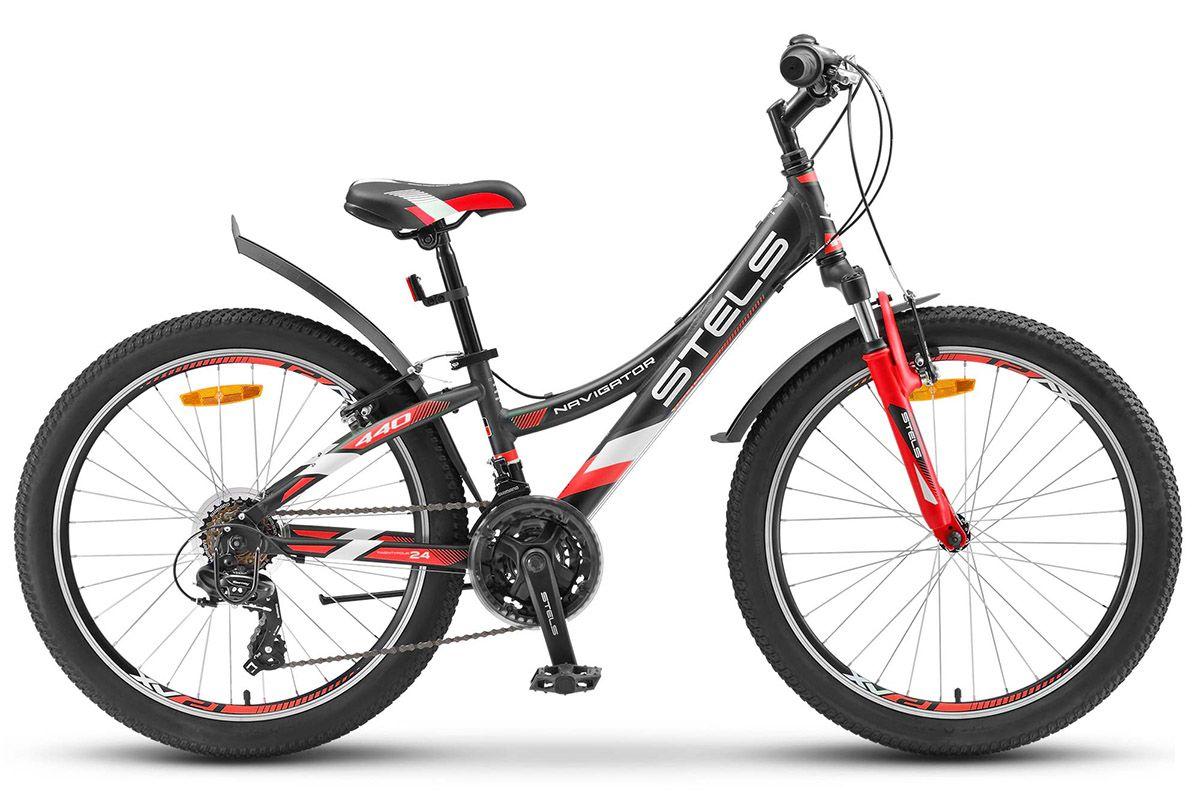 STELS Велосипед Stels Navigator 440 V 24 (2017) черно-пурпурный 11.5 велосипед stels navigator 310 2016