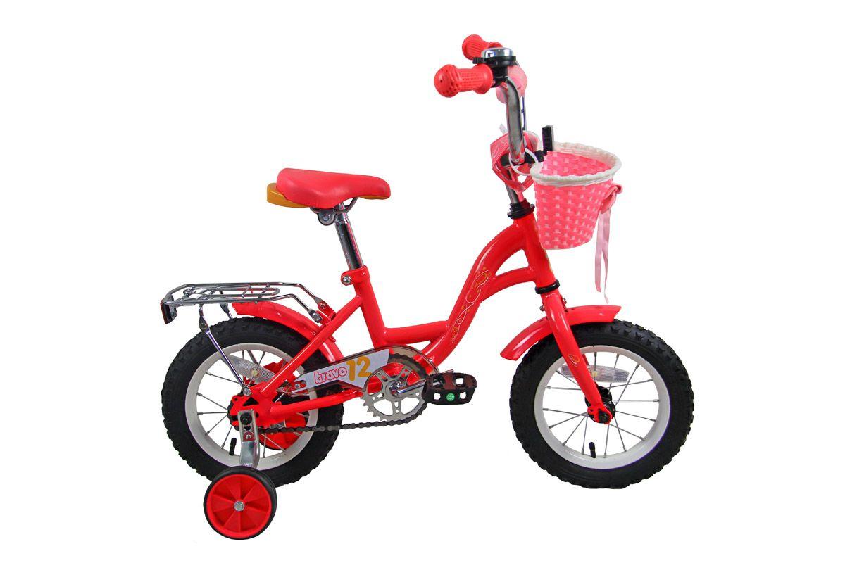 Велосипед Bravo 12 Girl 2018 розово-жёлто-белый one size