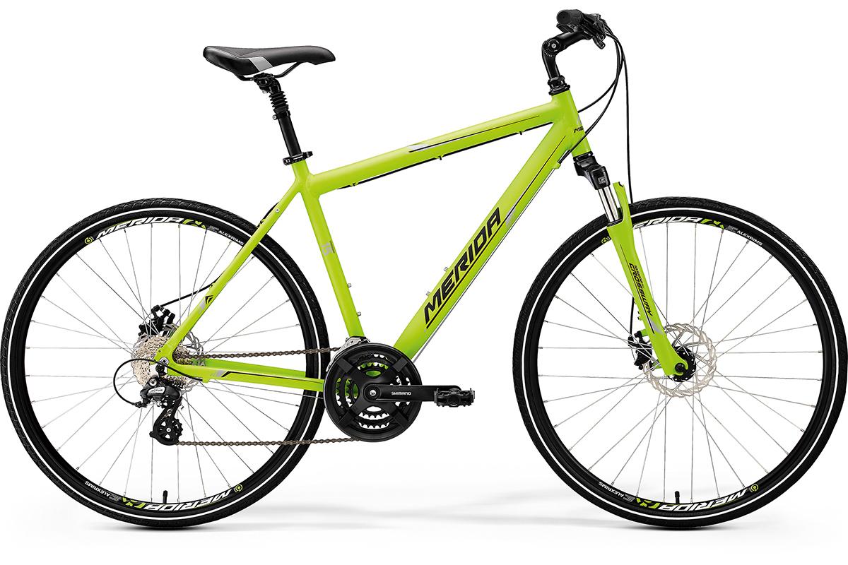 Велосипед Merida Crossway 15-MD (2017) зеленый-серо-черный 18СПОРТИВНАЯ ПОСАДКА<br><br><br>бренд: MERIDA<br>год: 2017<br>рама: Алюминий (Alloy)<br>вилка: Амортизационная (пружина)<br>блокировка амортизатора: Нет<br>диаметр колес: 700C<br>тормоза: Дисковые механические<br>уровень оборудования: Начальный<br>количество скоростей: 24<br>Цвет: зеленый-серо-черный<br>Размер: 18