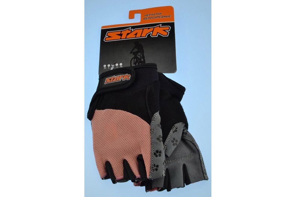 Велоперчатки Stark NC-677 розовые -ПЕРЧАТКИ<br>Женские перчатки с открытыми пальцами Stark NC-677, мягкие подушечки на внутренней стороне и прокладки с гелем и силиконом для большего комфорта, дополнительные швы придают большую прочность<br><br>бренд: STARK<br>год: Всесезонный<br>рама: None<br>вилка: None<br>блокировка амортизатора: None<br>диаметр колес: None<br>тормоза: None<br>уровень оборудования: None<br>количество скоростей: None<br>Цвет: -<br>Размер: None