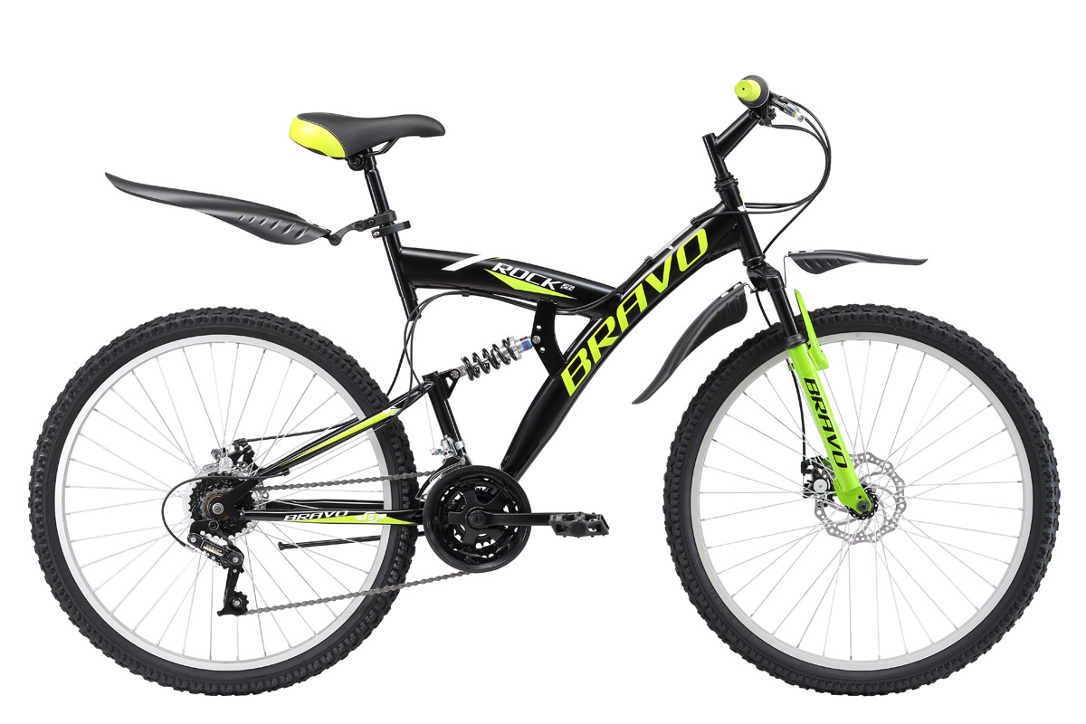 все цены на  BRAVO Велосипед Bravo Rock 26 Disc (2017) черно-зеленый 18