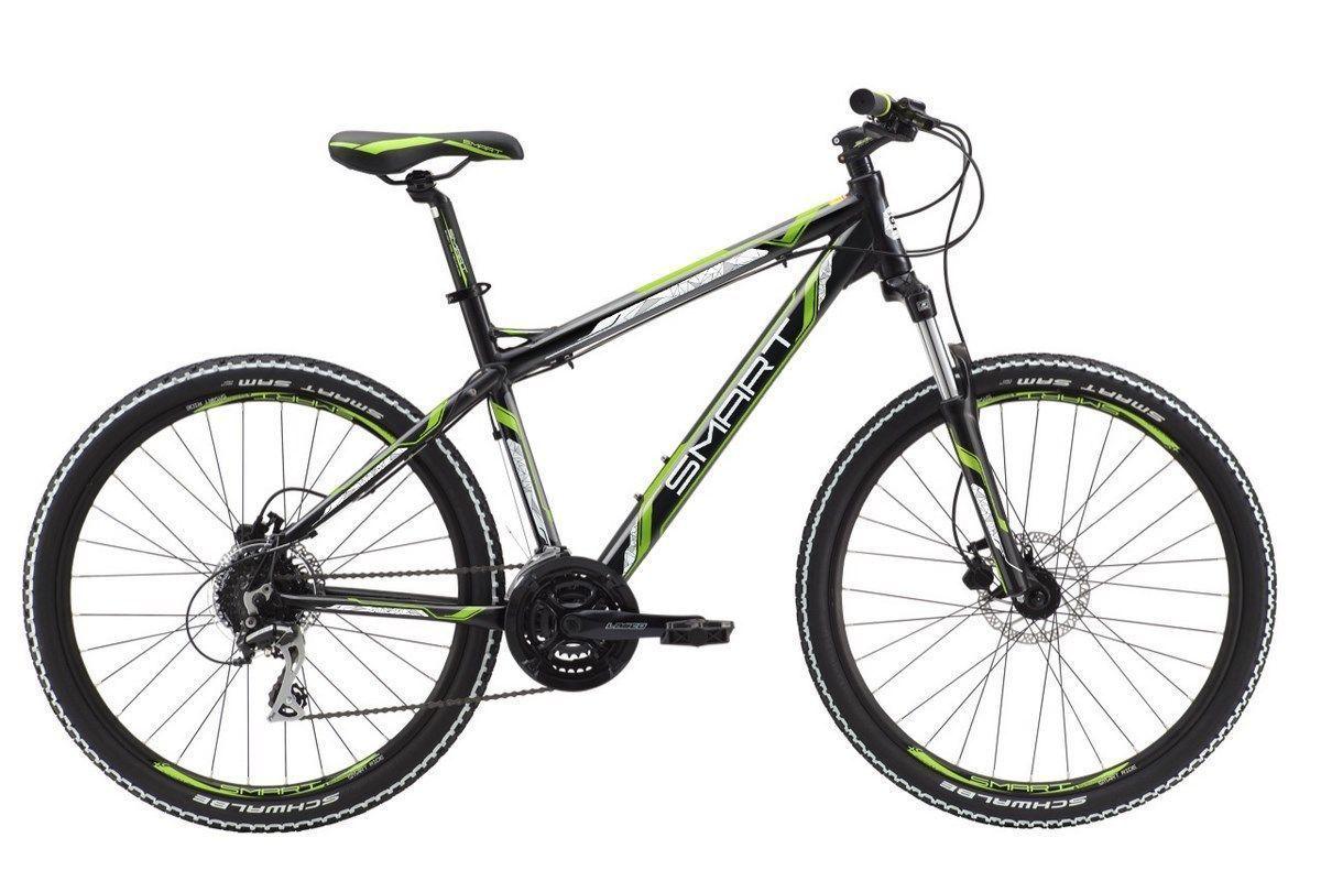 Велосипед Smart Machine 80 2018 черно-бело-зеленый 18 д