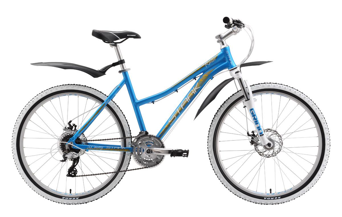 Велосипед Stark Router Lady Disc (2016) бирюзово-золотой 14.5СПОРТИВНЫЕ<br>Среди горных велосипедов Stark с женской рамой, Router Lady Disc имеет лучшую комплектацию. Механические дисковые тормоза с роторами 160мм, дополнили и без того интересный набор оборудования этого велосипеда. По выгодной цене, вы приобретаете женский горный велосипед на баттированной алюминиевой раме с качественным навесным оборудованием Shimano Acera, Suntour и передней вилкой Spinner с ходом 80мм. В 2016 году модель оборудована передним переключателем фирмы Shimano. Выгодная цена  бесспорное преимущество женского горного велосипеда Stark Router Lady Disc.<br><br>бренд: STARK<br>год: 2016<br>рама: Алюминий (Alloy)<br>вилка: Амортизационная (пружина)<br>блокировка амортизатора: Нет<br>диаметр колес: 26<br>тормоза: Дисковые механические<br>уровень оборудования: Начальный<br>количество скоростей: 24<br>Цвет: бирюзово-золотой<br>Размер: 14.5