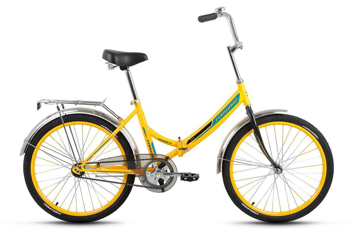 Велосипед Forward Valencia 1.0 (2017) желтый 16ГОРОДСКИЕ СКЛАДНЫЕ<br><br><br>бренд: FORWARD<br>год: 2017<br>рама: Сталь (Hi-Ten)<br>вилка: Жесткая (сталь)<br>блокировка амортизатора: Нет<br>диаметр колес: 24<br>тормоза: Ножной ( Coaster brake)<br>уровень оборудования: Начальный<br>количество скоростей: 1<br>Цвет: желтый<br>Размер: 16
