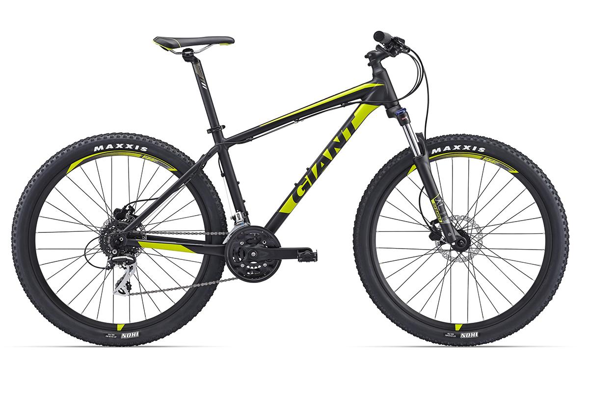 Велосипед Giant Talon 3 (2017) черно-зеленый S