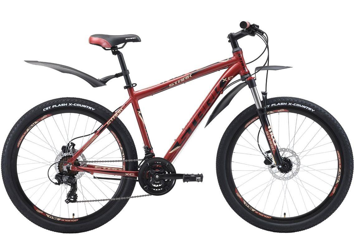 Велосипед Stark Indy 26.2 HD (2018) тёмно-коричневый/чёрный/серый 16КОЛЕСА 26 (СТАНДАРТ)<br>Надёжный и недорогой горный велосипед Stark Indy 26.2 HD #40;2018#41; отлично подходит для прогулок за городом. Главным отличием этой модели от других велосипедов линейки Indy, является наличие гидравлических тормозов. В остальном же эти велосипеды идентичны. Они обладают крепкой алюминиевой рамой, навесным оборудованием Shimano и имеют трансмиссию с 21 скоростью. Амортизационная вилка оборудована блокировкой, благодаря чему велосипед ещё удобнее использовать при активном разгоне и подъеме в гору. Помимо этого производитель добавил литой вынос руля #40;без сварки#41;, который сделал рулевой узел более надёжным.<br><br>бренд: STARK<br>год: 2018<br>рама: Алюминий (Alloy)<br>вилка: Амортизационная (пружина)<br>блокировка амортизатора: Нет<br>диаметр колес: 26<br>тормоза: Дисковые гидравлические<br>уровень оборудования: Начальный<br>количество скоростей: 21<br>Цвет: тёмно-коричневый/чёрный/серый<br>Размер: 16