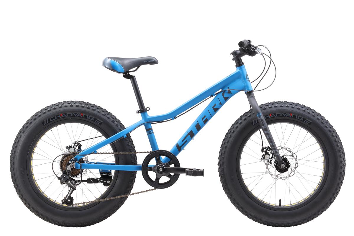 Велосипед Stark Rocket Fat 20.1 D 2019 голубой-чёрный-серый one size