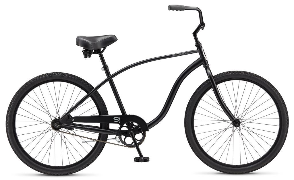 Велосипед Schwinn Cruiser One (2015) красный one sizeКРУИЗЕРЫ / РЕТРО<br><br><br>бренд: SCHWINN<br>год: 2015<br>рама: Сталь (Hi-Ten)<br>вилка: Жесткая (сталь)<br>блокировка амортизатора: None<br>диаметр колес: 26<br>тормоза: Ножной ( Coaster brake)<br>уровень оборудования: Начальный<br>количество скоростей: 1<br>Цвет: красный<br>Размер: one size