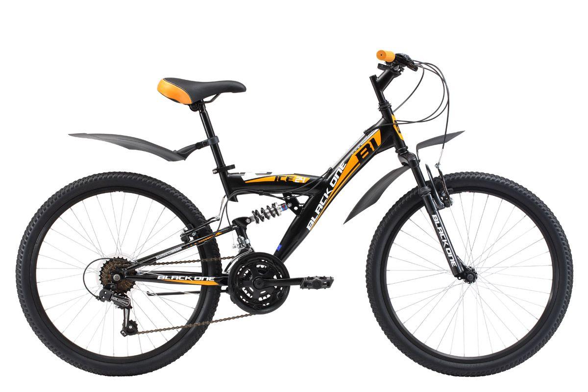 Велосипед Black One Ice FS 24 (2017) сине-красный 13