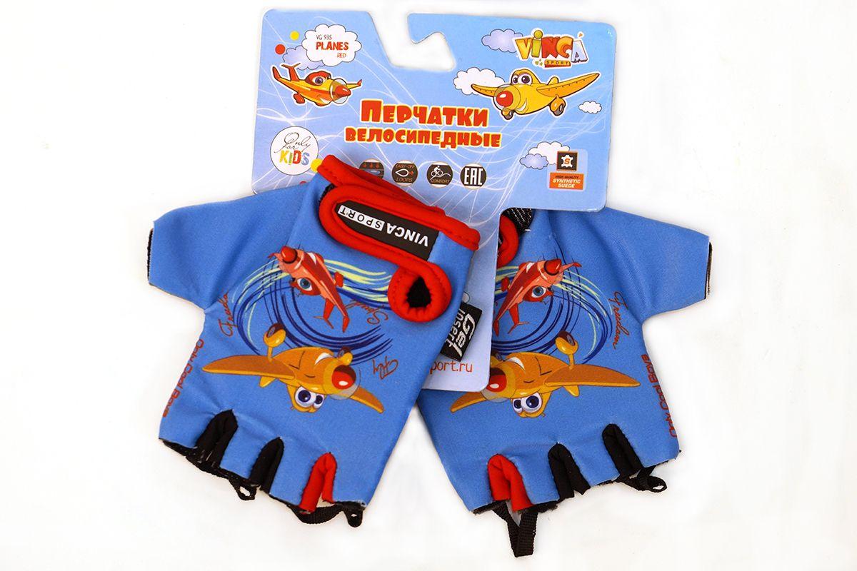 Велоперчатки детские PLANE Vinca Sport синий с красным 6XXS