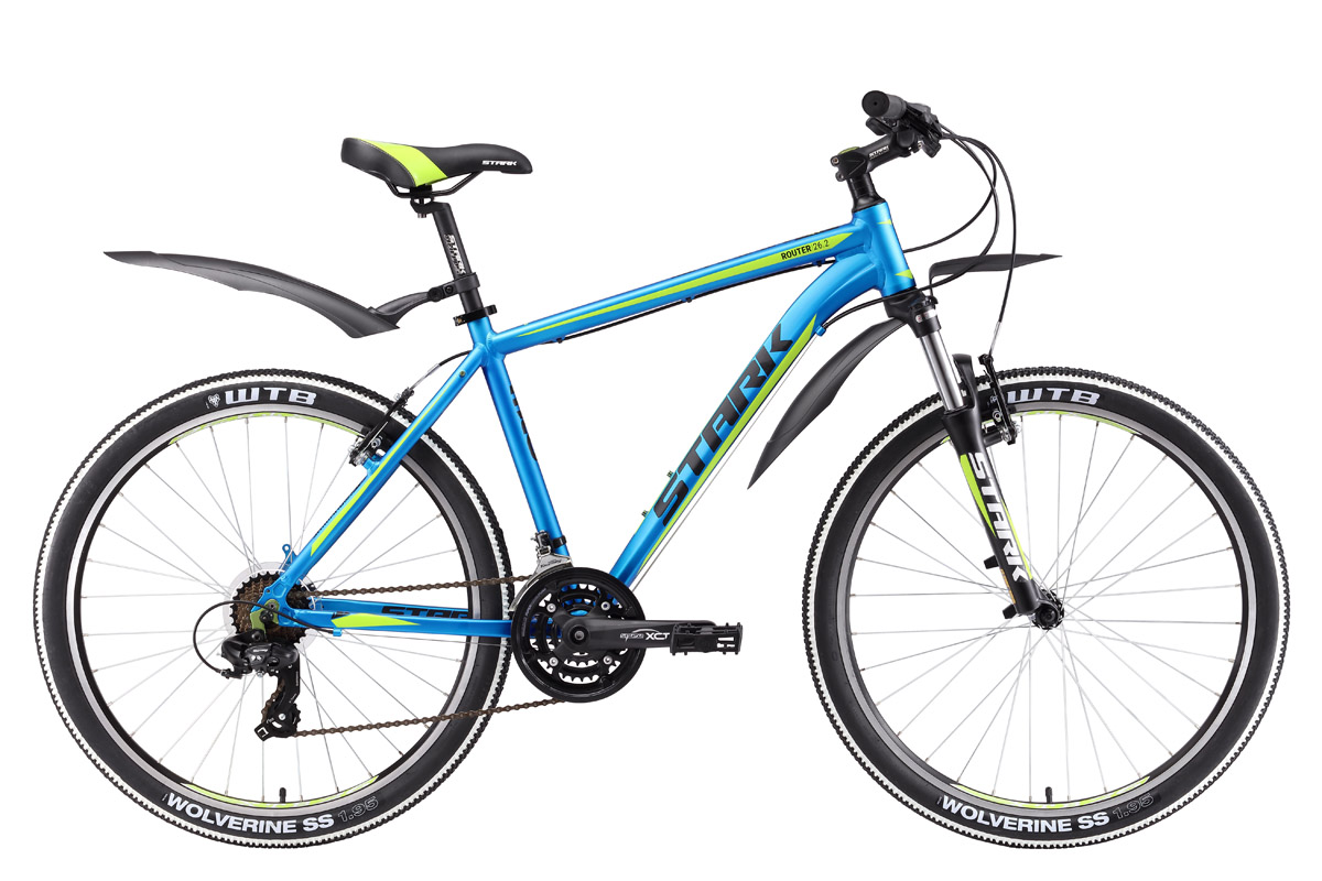 Велосипед Stark Router 26.2 V 2017 сине-зеленый 18 д