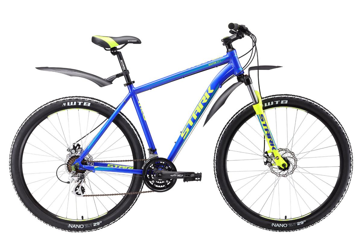 Велосипед Stark Router 29.3 D 2017 сине-желтый 18 д